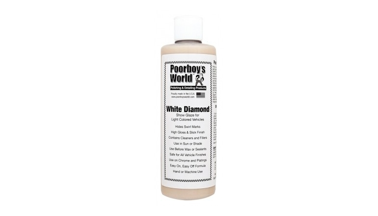 POORBOY'S WORLD WHITE DIAMOND SHOW GLAZE 473ML politura do jasnych lakierów