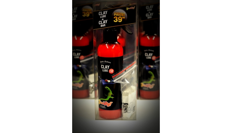 Good Stuff Clay Lube Geckos Slickness 250ml  Clay Bar Medium 50gr - lubrykant i glinka